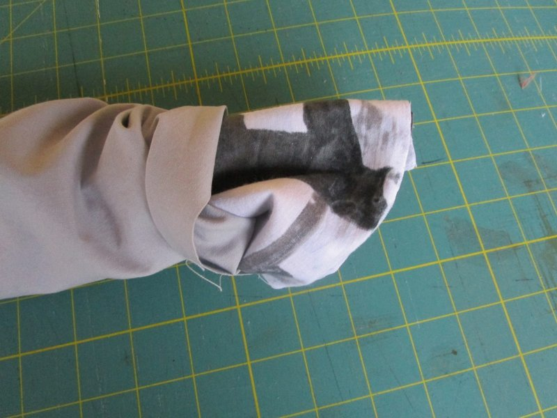 13 Grab the main fabric and pull right side out