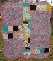 Back of crib quilt