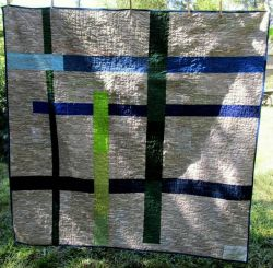 Improvisationally pieced quilt back