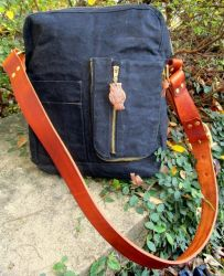 Waxed Canvas Shoulder Messenger Bag