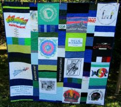 Lap quilt with Widespread Panic t-shirts