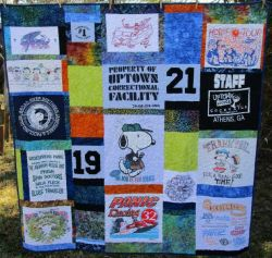 Memory Quilt using t-shirts