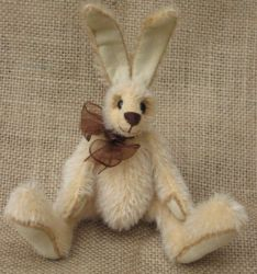 Pale yellow mohair rabbit