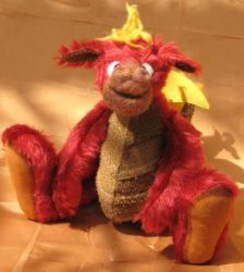Fully jointed mohair dragon