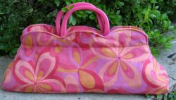 Retro Handbag Made With Upholstery Fabric