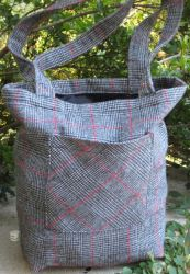Upcycled Wool Tote Bag